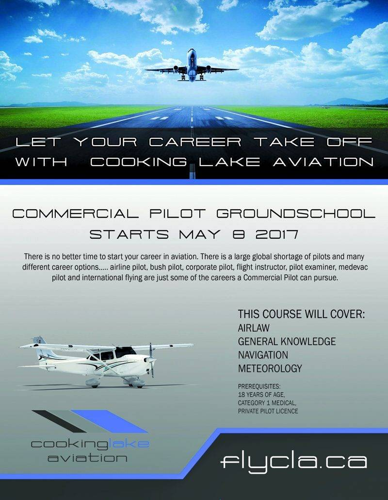 Cooking Lake Aviation Commercial Pilots License